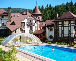 Hotel Castle in Carpathian Mountains