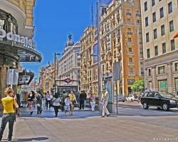 شارع غران فيا في مدريد