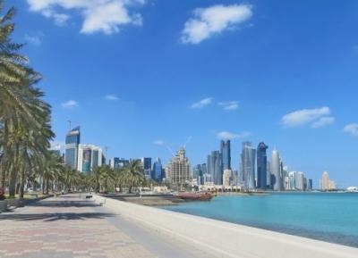 الممشى الشاطئي الشهير  بالدوحة ( كورنيش الدوحة )
