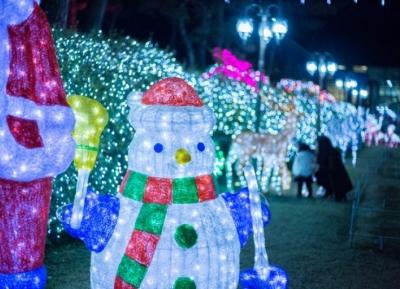مهرجان إضاءة حديقة بيوكتشوجي النباتية