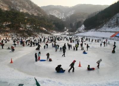 مهرجان يانغبيونغ  للصيد الجليدي