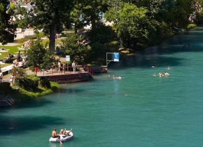 السباحه فى نهر أرى - Aare River