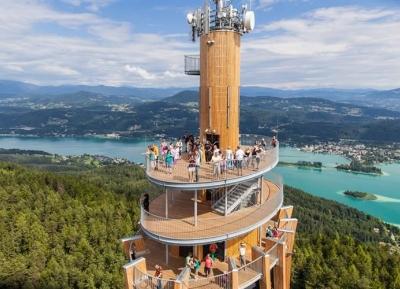 تسلق أطول برج خشبى فى العالم -بيراميدنكوجل -Pyramidenkogel