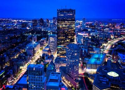 بوسطن من أعلى مرصد سكاى ووك